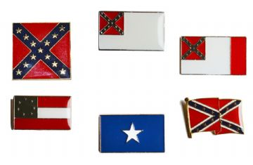 Confederate Flags Badge Set